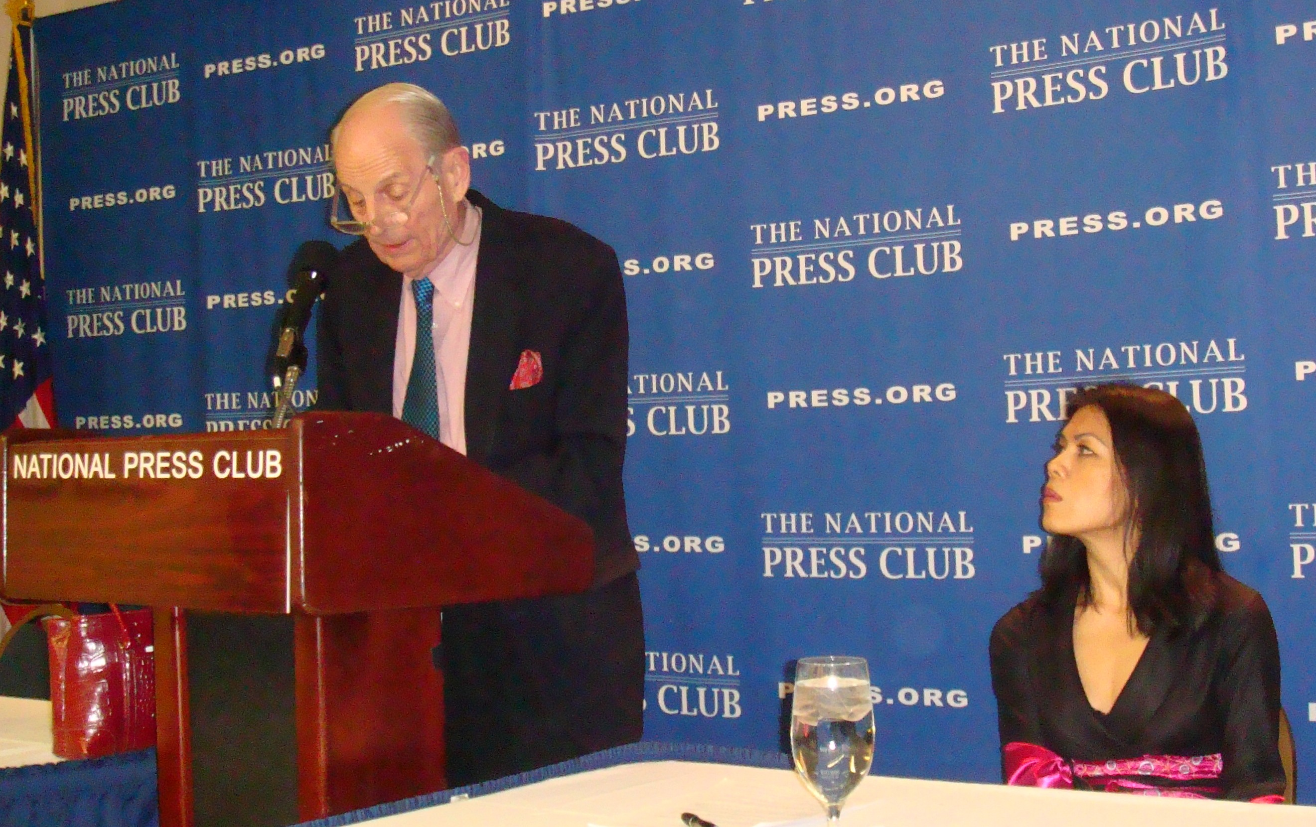 Peter Hickman introducing Newsmaker Theary Seng (National Press Club, 5 March 2010)