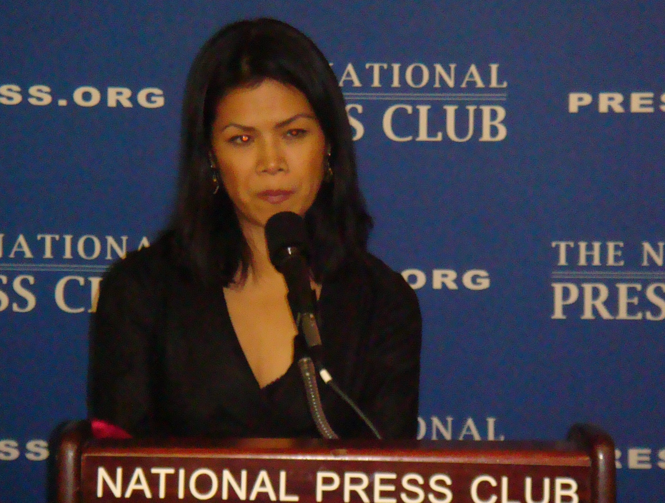 Theary Seng speaking at National Press Club's Newsmaker Program, 5 March 2010