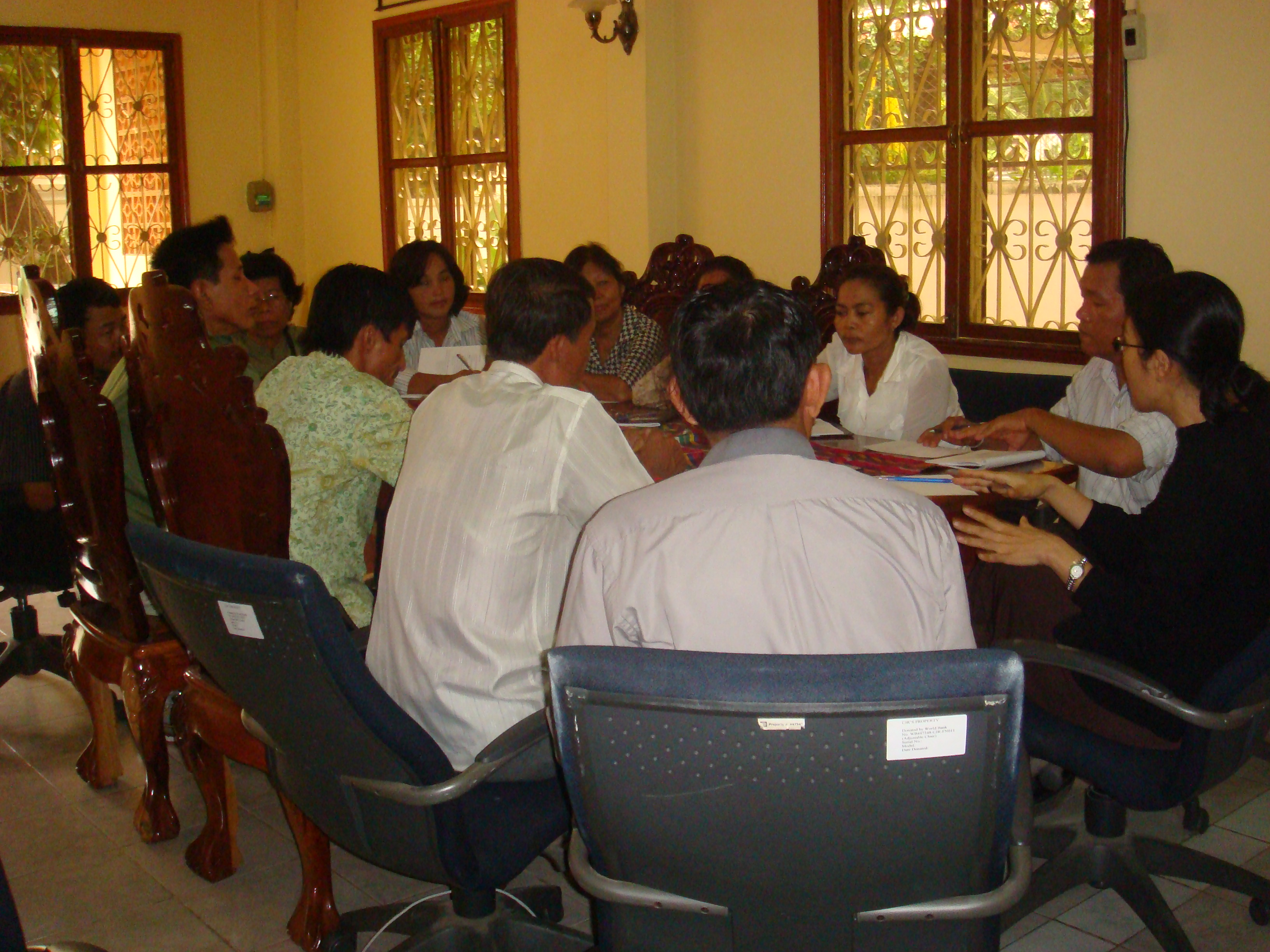 Theary Seng meeting with Association of Khmer Rouge Victims in Cambodia, 17 Aug. 2010