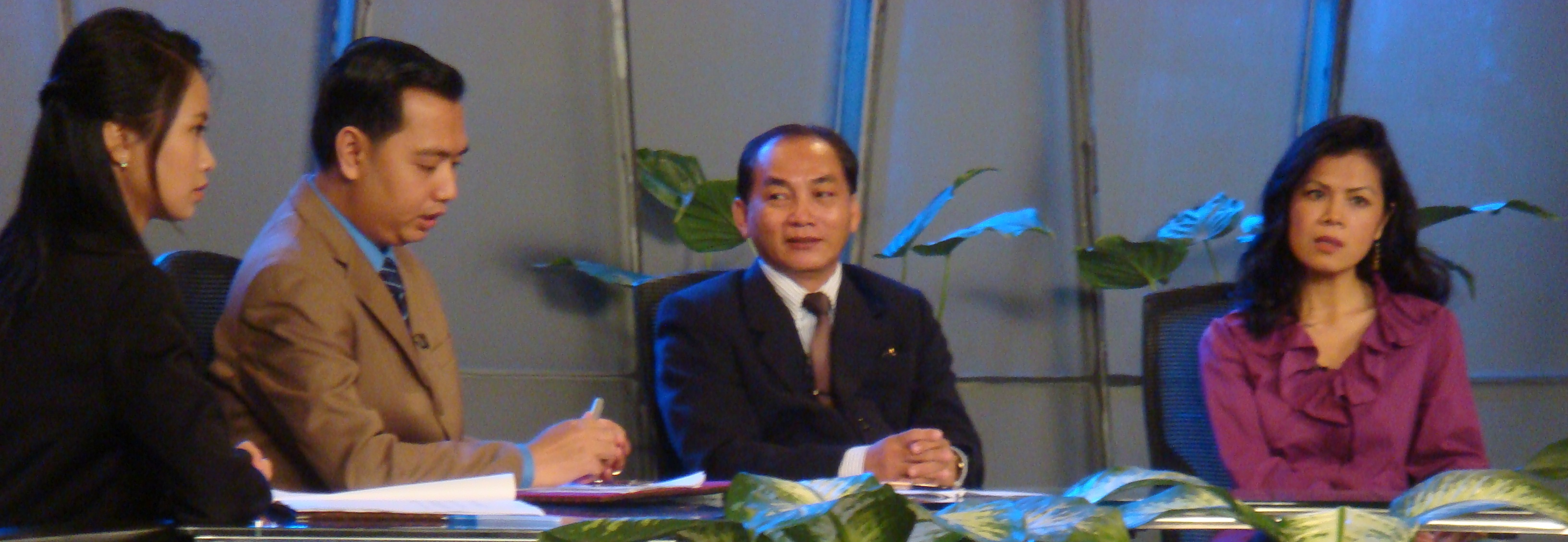 Theary Seng at CTN Studio, 20 Aug. 2010