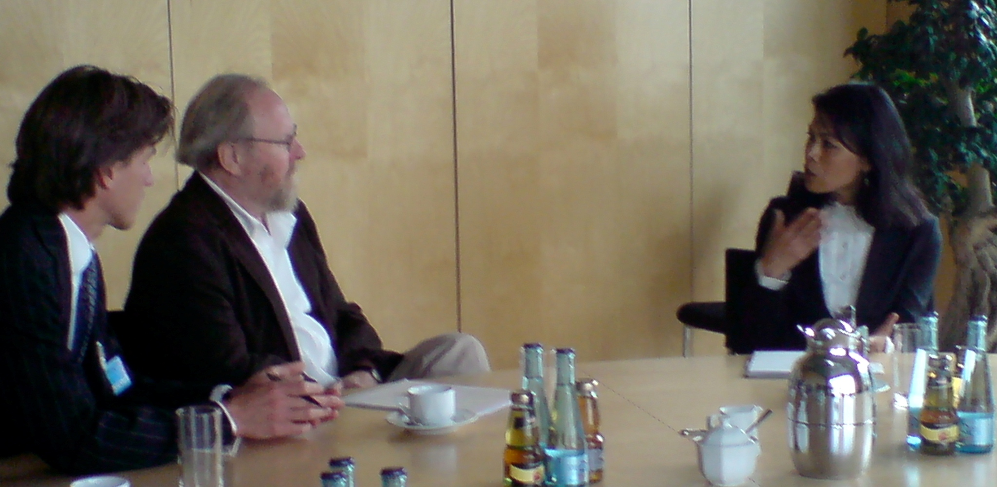 Theary Seng with vice-president of German Parliament (Bundestag), Dr. Wolfgang Thierse, in Berlin, Sept. 2009
