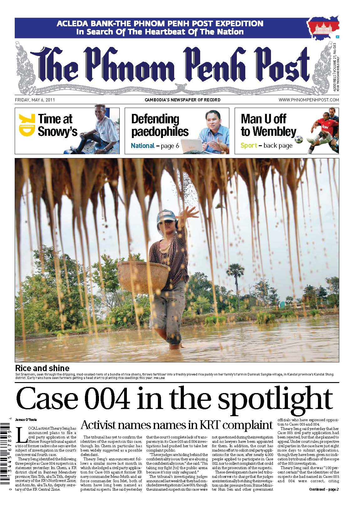 Case 004 frontpage of PPPost, 6 May 2011