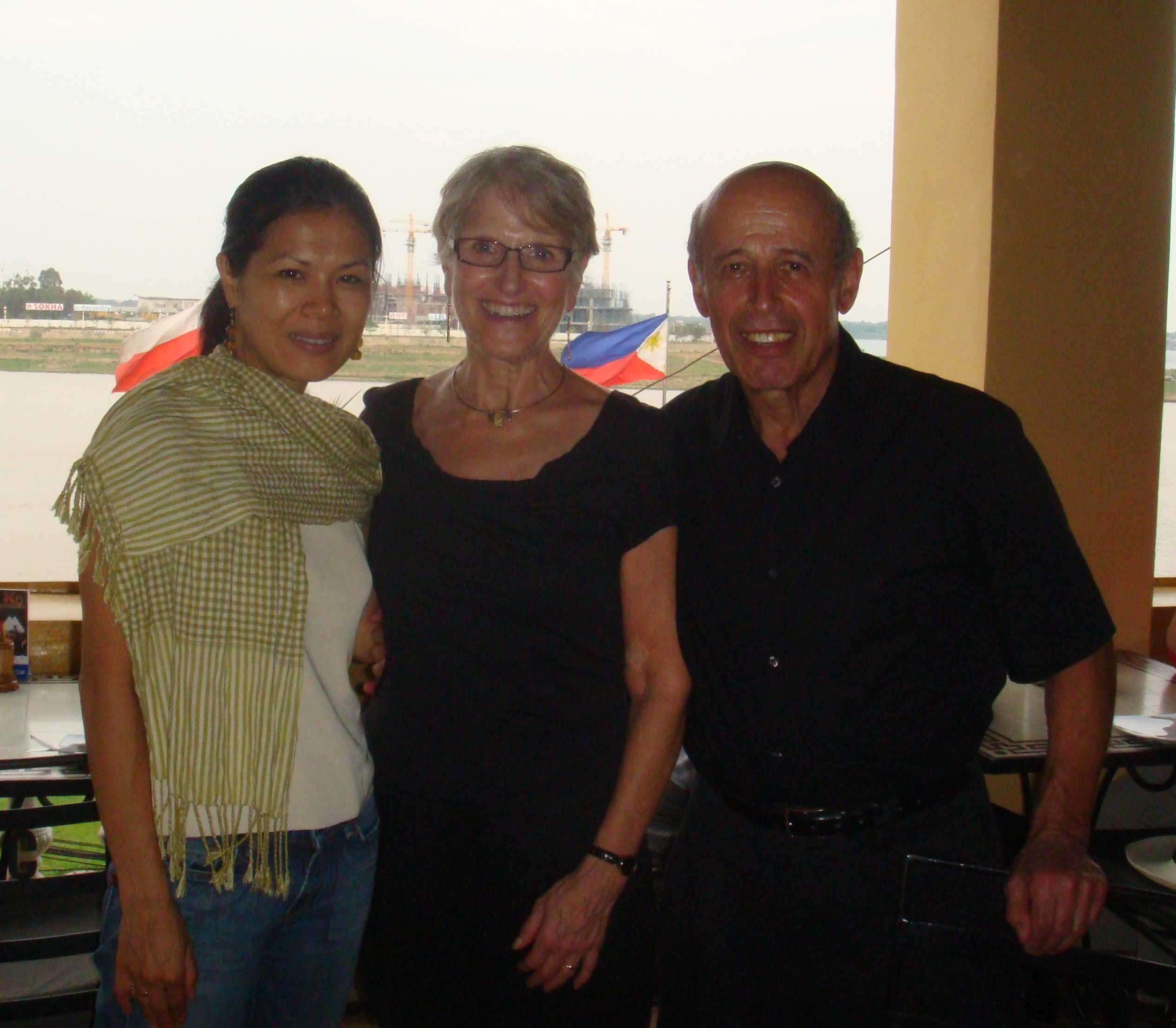 Ervin, Laurie Staub and Theary Seng, 6 March 2011