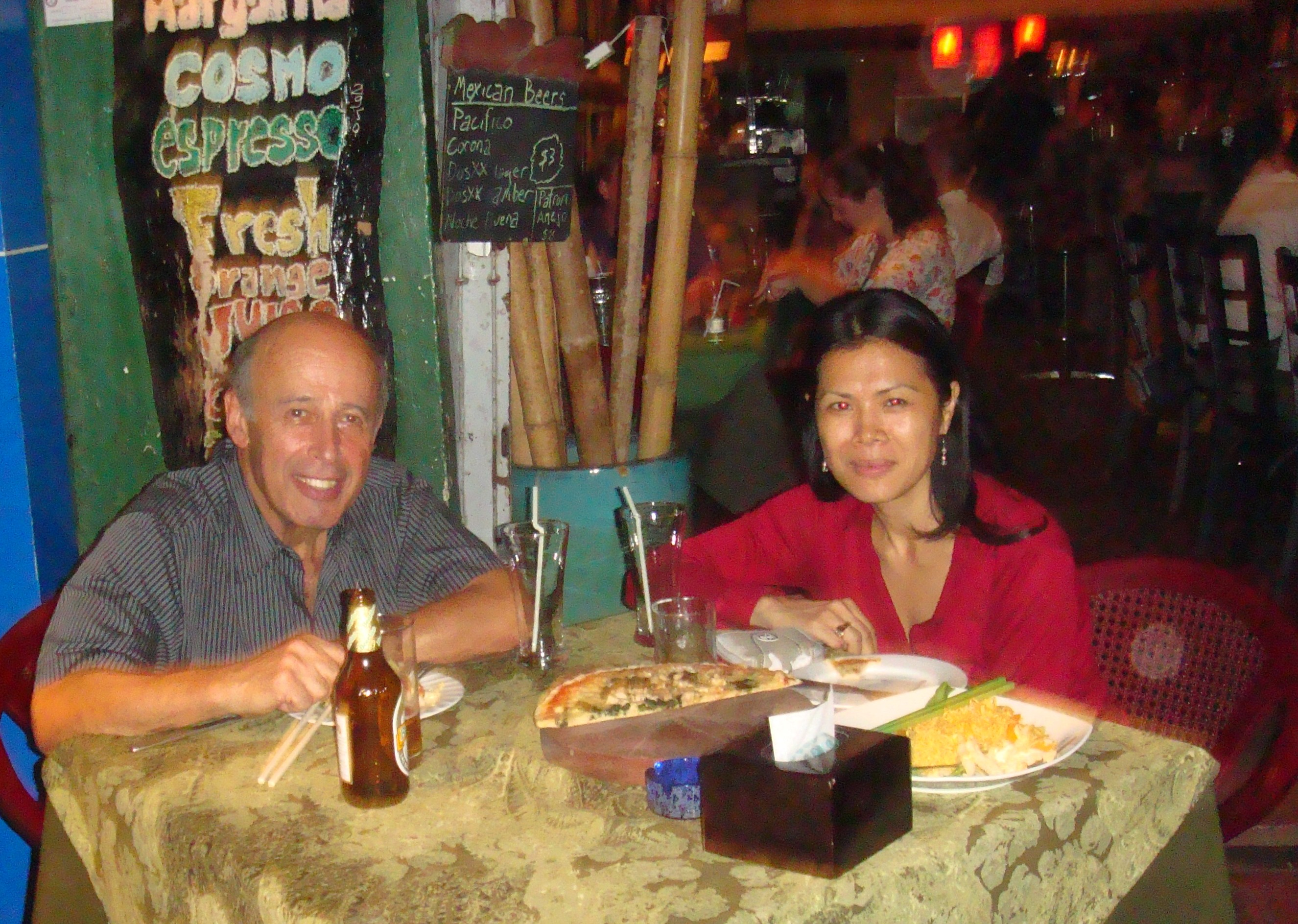 Theary Seng, Dr. Ervin Staub at Cantina, 10 March 2011