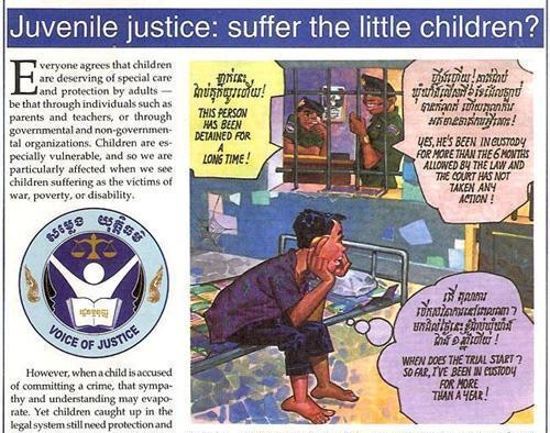 Voice of Justice: Juvenile Justice by Zoe Nield and Ang Udom (heavily edited by Theary Seng)