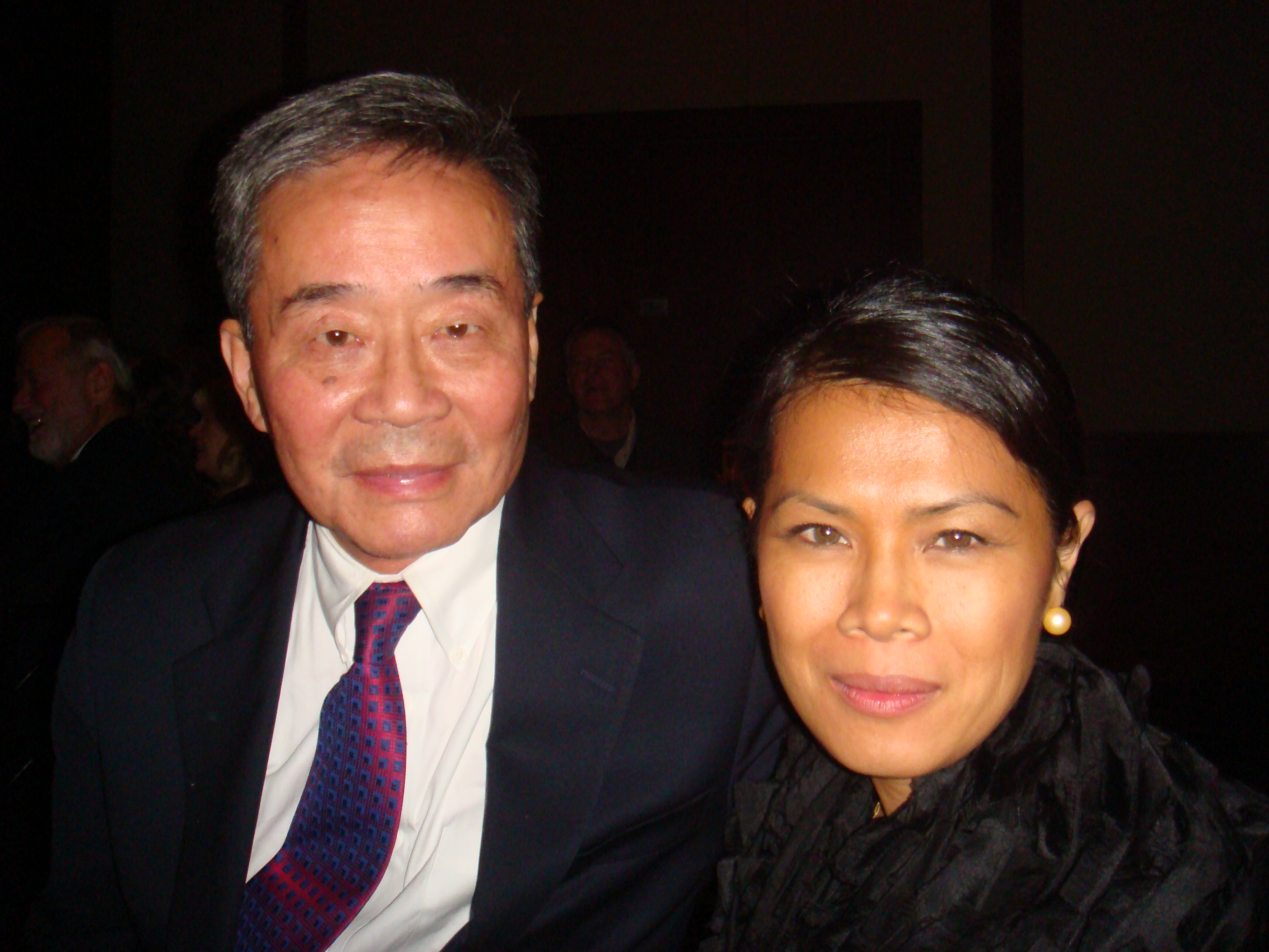Theary Seng with Harry Wu, NYC 17 Nov. 2010