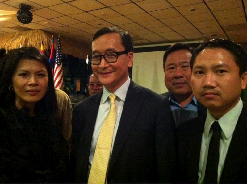 Sam Rainsy, praCh, uncle Eng, Theary in Long Beach, 25 March 2012