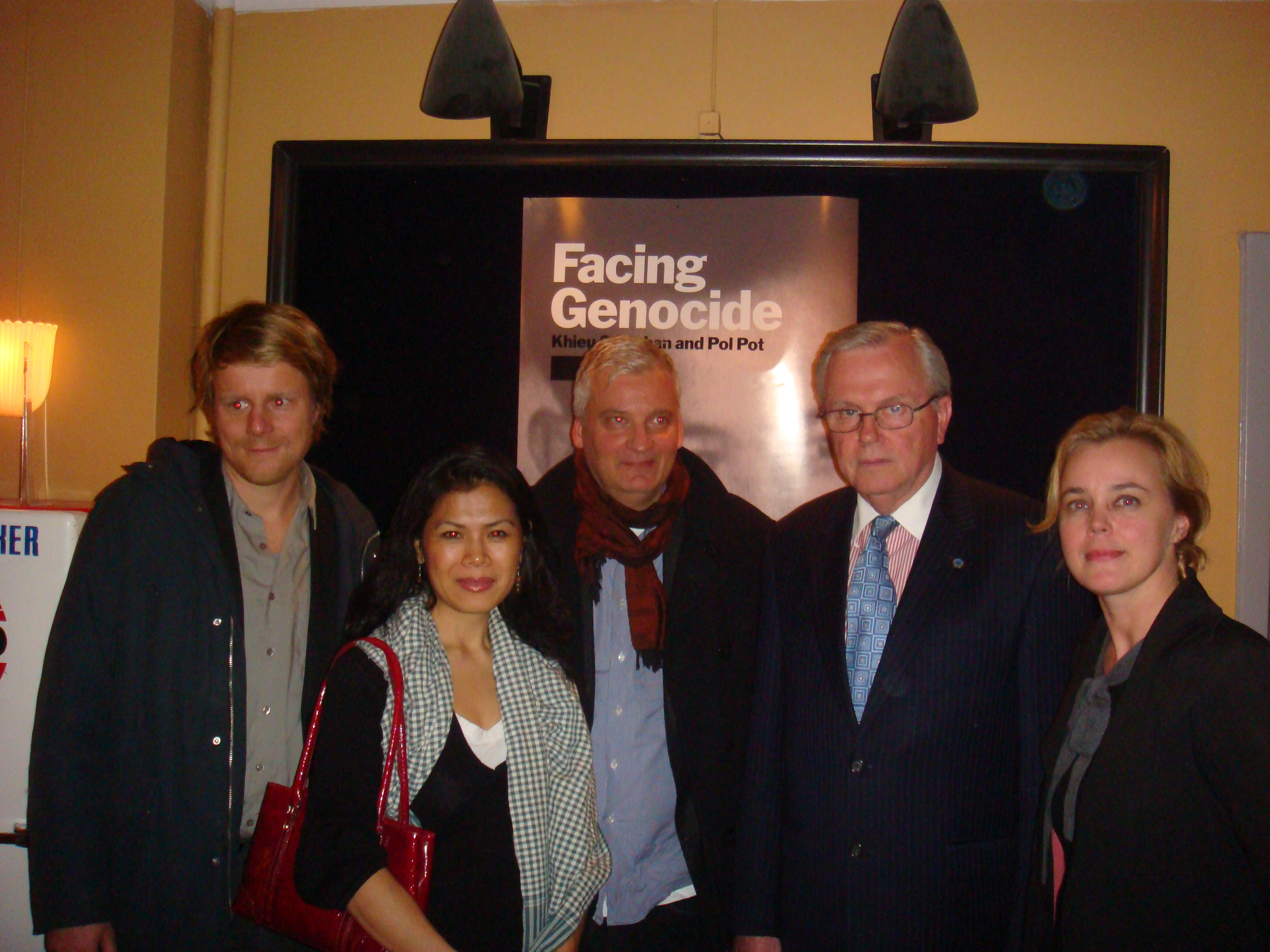 Theary Seng, Hans Corell, David Aronowitsch, Staffan Lindberg Stockholm 20 Oct. 2010