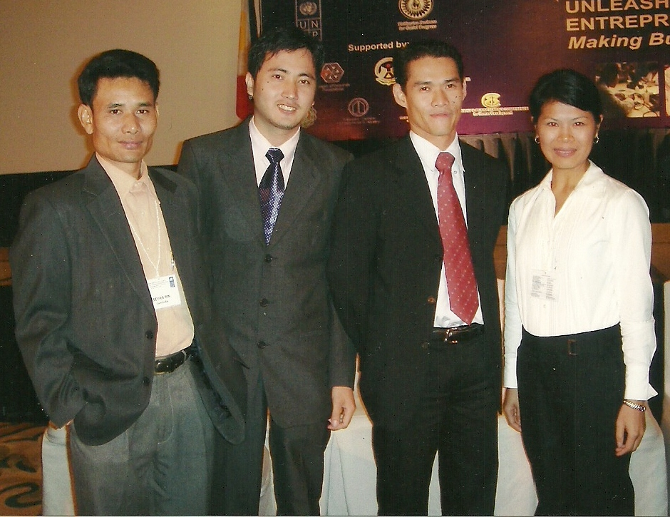 Theary Seng in Manila, 2005