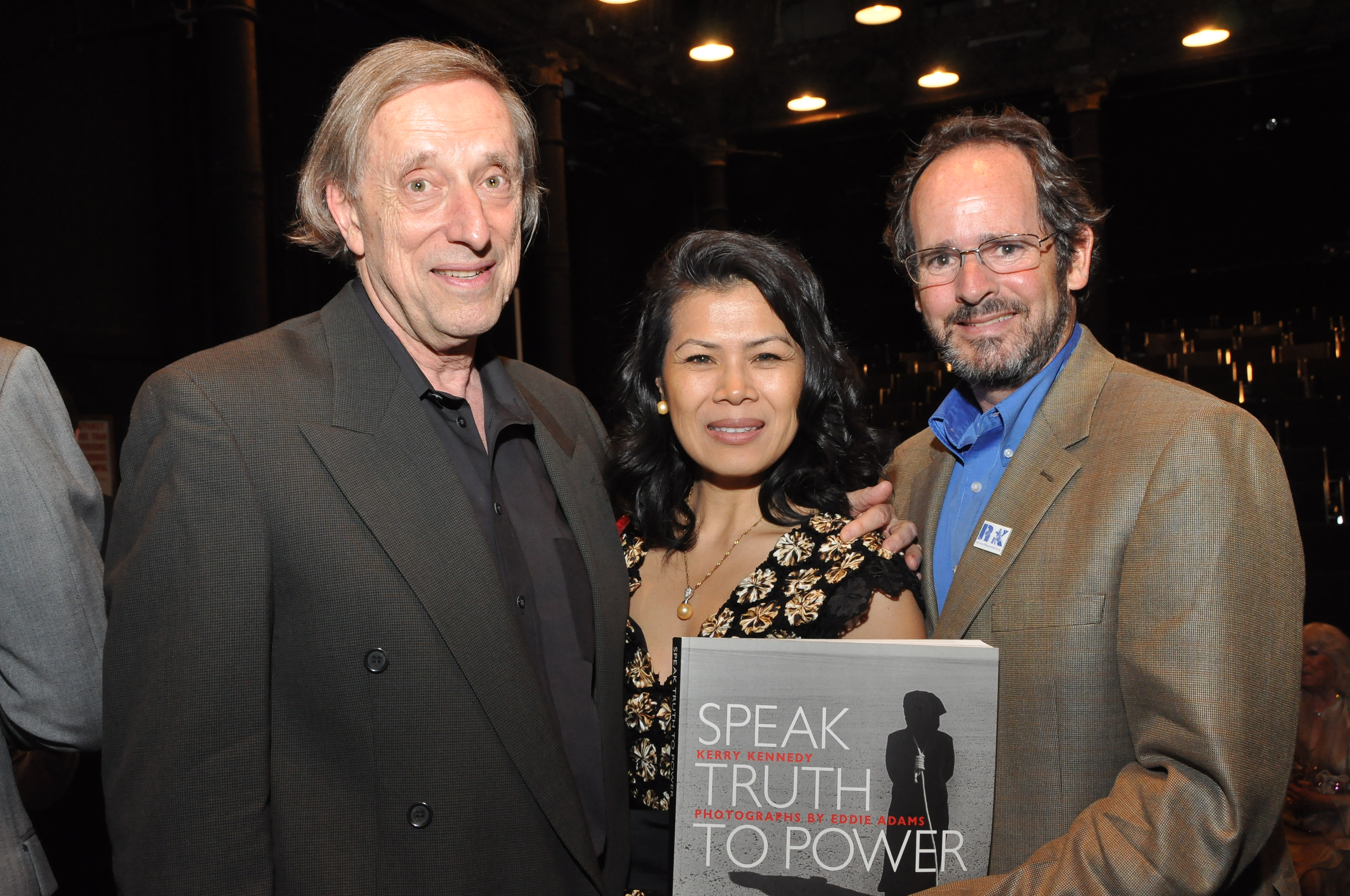 Theary Seng with Ariel Dorfman, John Heffernan (NYC, 3 May 2010)