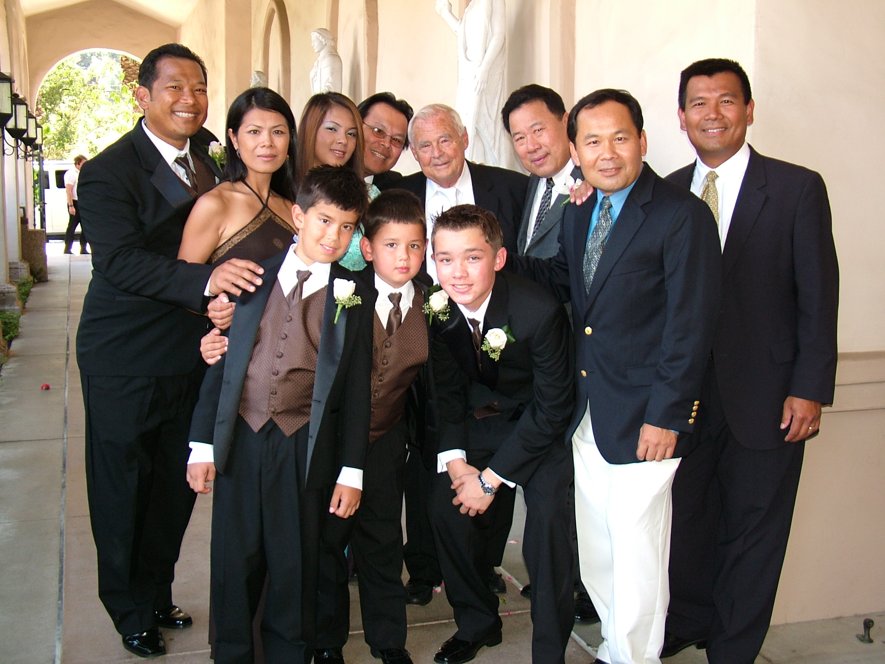 Theary Seng, brothers and Wally at Donald and Heidi Hok's wedding (Southern California)