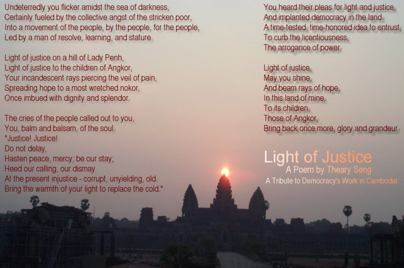 Poem:  Light of Justice by Theary Seng